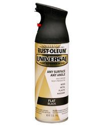 Rust-Oleum® Universal® Flat Black Paint and Primer Spray - 12 oz