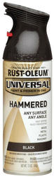Rust-Oleum® Universal® Hammered Black Paint and Primer Spray - 12 oz