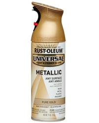 Rust-Oleum® Universal® Metallic Pure Gold Paint and Primer Spray - 11 oz