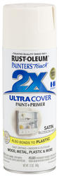 Painter's Touch Ultra Cover 2X Satin Blossom White Spray Paint - 12 oz