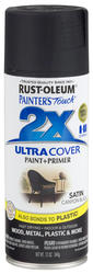 Painter's Touch Ultra Cover 2X Satin Canyon Black Spray Paint - 12 oz