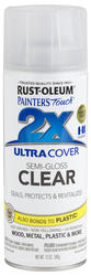 Painter's Touch Ultra Cover 2X Clear Semi-Gloss Spray Paint - 12 oz