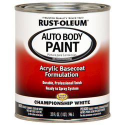 Rust-Oleum® Automotive Championship White Acrylic Auto Body Paint - 1 qt