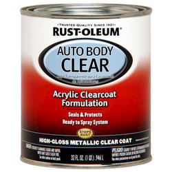 Rust-Oleum® Automotive Metallic Clear Coat Acrylic Auto Body Paint - 1 qt