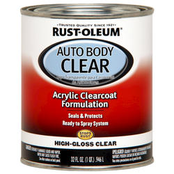 Rust-Oleum® Automotive Gloss Clear Coat Acrylic Auto Body Paint - 1 qt