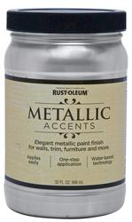 Rust-Oleum® Metallic Accents Sterling Silver Paint - 1 qt