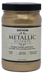 Rust-Oleum® Metallic Accents Soft Gold Paint - 1 qt