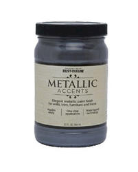 Rust-Oleum® Metallic Accents Real Pewter Paint - 1 qt