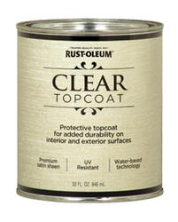 Rust-Oleum® Metallic Accents Clear Satin Top Coat - 1 qt