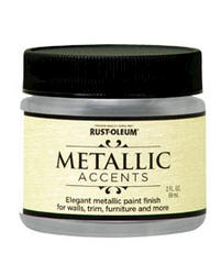 Rust-Oleum® Metallic Accents Sterling Silver Paint - 2 oz