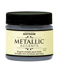 Rust-Oleum® Metallic Accents Real Pewter Paint - 2 oz