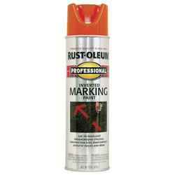 Rust-Oleum® Professional Fluorescent Orange Inverted Marking Spray Paint - 15 oz