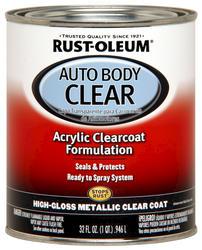 Rust-Oleum® Automotive Clear High-Gloss Low-VOC Acrylic Auto Body Coat - 1 qt