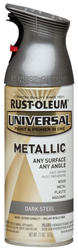 Rust-Oleum® Universal® Metallic Dark Steel Paint and Primer Spray - 11 oz