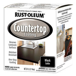 Rust-Oleum® Satin Black Countertop Coating - 1 qt