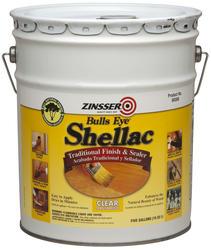 Zinsser® Bulls Eye Clear Shellac Finish and Sealer - 5 gal.
