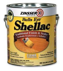Zinsser® Bulls Eye Clear Shellac Finish and Sealer - 1 gal.