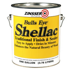 Zinsser® Bulls Eye Traditional Amber Shellac Finish and Sealer - 1 gal.