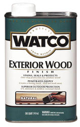 Watco Natural Exterior Wood Finish - 1 qt