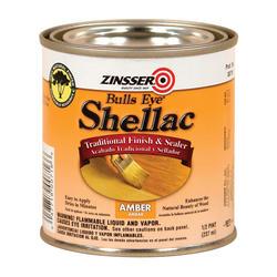 Zinsser® Bulls Eye Amber Shellac Finish and Sealer - 1/2 pt