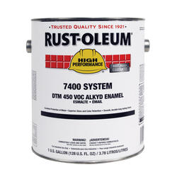 High Performance 7400 System Semi-Gloss White Alkyd Enamel - 1 gal.