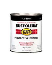 Rust-Oleum® Stops Rust® Flat Black Protective Enamel - 1 qt