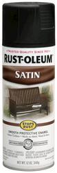 Rust-Oleum® Stops Rust® Satin Black Protective Enamel Spray - 12 oz