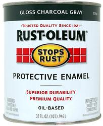 Rust-Oleum® Stops Rust® Gloss Charcoal Gray Protective Enamel - 1 qt
