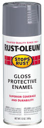 Rust-Oleum® Stops Rust® Gloss Smoke Gray Protective Enamel Spray - 12 oz