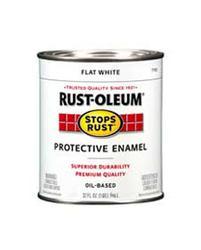 Rust-Oleum® Stops Rust® Flat White Protective Enamel - 1 qt