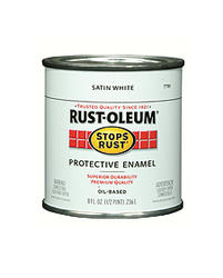 Rust-Oleum® Stops Rust® Satin White Protective Enamel - 1/2 pt