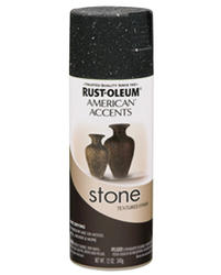 American Accents Black Granite Sand Stone Textured Spray Paint - 12 oz