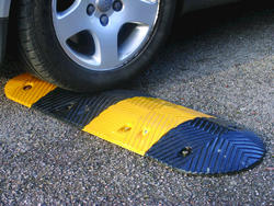 Rust-Oleum® Industrial Flooring Black and Yellow Compact Speed Bump Mid Section