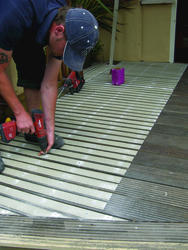 "Rust-Oleum® Industrial Flooring 3-1/2"" x 47"" Black FRP Fine Anti-Slip Decking Strip"