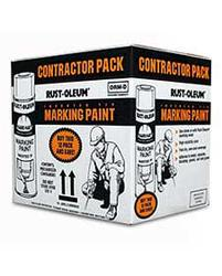 Rust-Oleum® Professional Fluorescent Red-Orange Marking Paint Contractor Pack