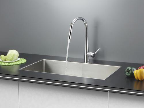 Menards Kitchen Sinks : Ruvati RVC2322 Stainless Steel Kitchen Sink and Chrome Faucet Set