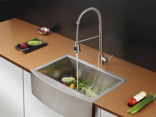 Menards Kitchen Sinks : Ruvati RVC2428 Stainless Steel Kitchen Sink and Stainless Steel Faucet ...