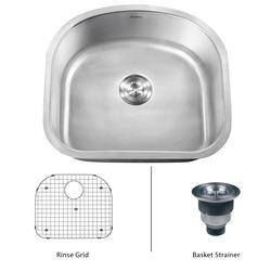 """Ruvati RVM4120 Undermount 16 Gauge 23"""" Kitchen Sink Single Bowl"""