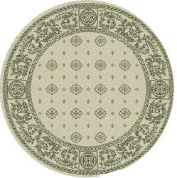 "Gramercy Courtyard Collection Indoor/Outdoor Area Rug  6'7"" x 6'7"" Round"