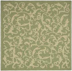 "Gramercy Courtyard Collection Indoor/Outdoor Area Rug  6'7"" x 6'7"" Square"