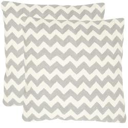 "Gramercy Striped Tealea Decorative Pillow 18"" x 18"" - Set Of 2"