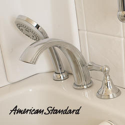 Polished Chrome Roman Tub Faucet Set With Hand Shower