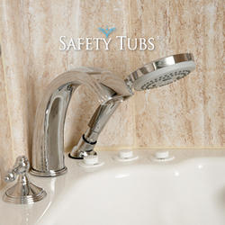 Safety Tubs® Roman Tub faucet With Hand Shower Polished Chrome