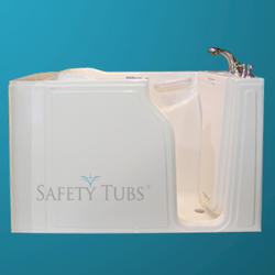 "Safety Tubs® Gel Coat Walk-In Dual Massage System, 52"" x 30"" Right Hand"