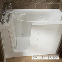 "Safety Tubs® Gel Coat Walk-In Soaking Tub, 54"" x 30"" Left Hand"