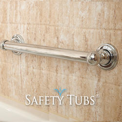 "Safety Tubs® 24"" Decorative Grab Bar Chrome"