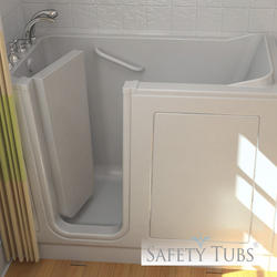 "Safety Tubs® Acrylic Walk-In Dual Massage System, 51"" x 26"" Left Hand"