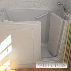 "Safety Tubs® Acrylic Walk-In Dual Massage System, 51"" x 26"" Right Hand"