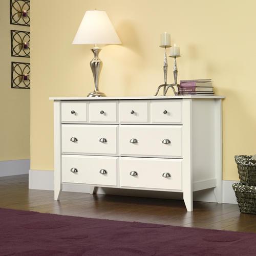 Sauder Shoal Creek Soft White 6-Drawer Dresser At Menards®