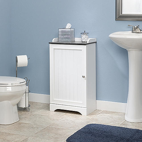 sauder bath soft white floor cabinet at menards